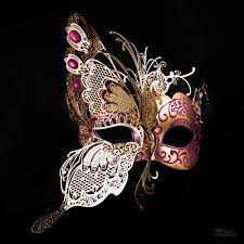 pink masquerade masks butterfly masquerade mask gold hot pink m7103