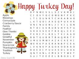 printable word games for kids for thanksgiving u2013 happy thanksgiving