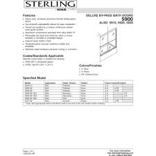 Sterling 5900 Shower Door Sterling 5900 57s Deluxe Silver Shower Doors Efaucets