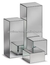 Lucite Pedestals Acrylic Reflect Mirrored Pedestal Buy Acrylic Mirror Pedestal