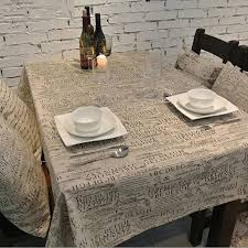 Western Desk Accessories Western Style Linen Cotton Table Cloth Jute Tablecloth