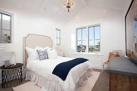 White Ruffle Bed Skirt Guest Bedroom With Twin Bed And White Ruffled Bedskirt Cottage