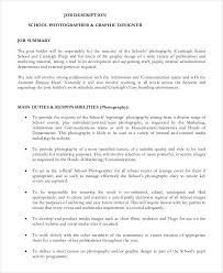Job Description In Resume by Cruise Ship Jobs Photographer Commercial Photographer Job