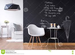 fun studio flat with chalkboard wall stock photo image 72767161