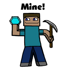 drawn sleleton minecraft steve pencil and in color drawn