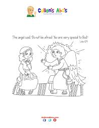 bible key point coloring page mary meets an angel online
