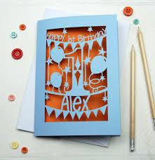 personalised first birthday card by pogofandango