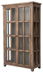 irish coast large display cabinet rustic china cabinets and