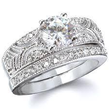 silver wedding ring sets silver wedding ring sets for women 7