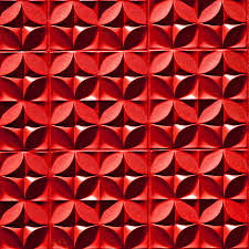 wall decor elegant red 3d textured wall panels for interior