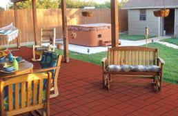 Recycled Rubber Patio Pavers Outdoor Rubber Pavers Tiles Mats And Recycled Rubber Mulch