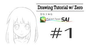 drawing tutorial w zero paint tool sai