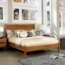 Overstock Platform Bed Size Mid Century Wooden Paneled Platform Bed Free Shipping