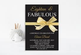 18th Birthday Invitation Card 18th Birthday Invitation 18th Birthday Party Invitation
