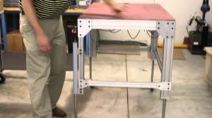 Adjustable Height Desk Legs by Portable Adjustable Height Table With Dyna Lift Kit Youtube