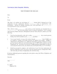 cover letter generic termination letter generic termination letter