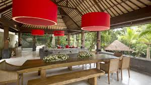 Balinese Dining Table Dining Room Villa The Sanctuary Bali