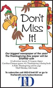 thanksgiving paper ads thetandd
