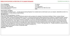 city planning engineer job title docs