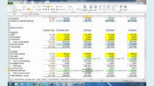 Business Plan Template In Excel by Financial Planning U0026 Forecasting Spreadsheet Modeling Youtube