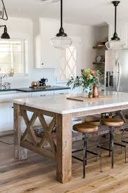 Kitchen Island With Table Attached by Best 25 Farmhouse Kitchen Island Ideas On Pinterest Kitchen