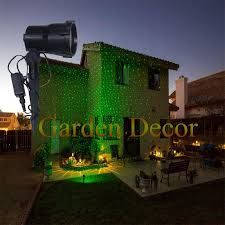moving single green moving garden laser light for christmas garden