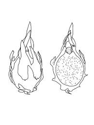 dragon fruit coloring free printable coloring pages