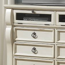 American Woodcrafter Heirloom Wood Media Dresser Tv Stand In Antique White Humble Abode