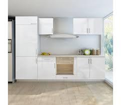cuisine blanche brillante acheter armoire de cuisine blanc brillant 7 pcs pour frigo intégré