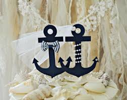 anchor wedding cake topper anchor toppers etsy