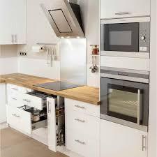 cuisine blanc laqué et bois noir intérieur modes de meuble cuisine blanc laqué ikea rclousa com
