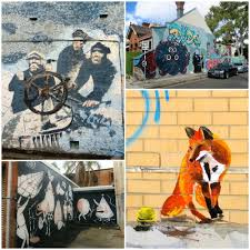 where to find street art in newtown fox on a wall in newtown sydney curlytraveller com
