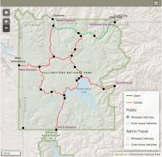 Yellowstone Eruption Map Real Time Road Data In The National Park Service Slides Npmap