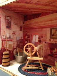 Painting Interior Log Cabin Walls by Dollhouse Decorating
