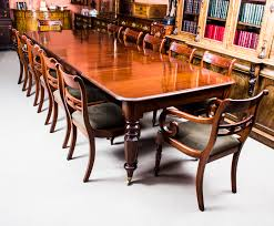 Antique Mahogany Dining Room Furniture by Antique Wiliam Iv Mahogany Extending Dining Table U0026 12 Chairs