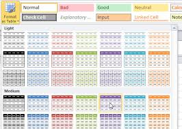colour themes for excel excel format as table part 2 video a4 accounting