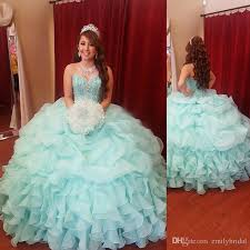 mint green ball gown teens quinceanera dresses sweetheart crystal