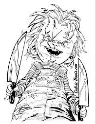 chucky coloring page chucky drawings coloring books chucky draw and