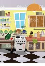 cuisine dessin animé cuisine de style dessin animé fond cliparts vectoriels et plus d