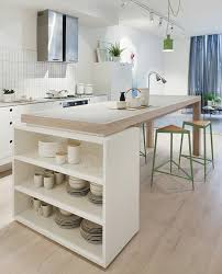 ilot central cuisine bois 45 idées en photos pour bien choisir un îlot de cuisine
