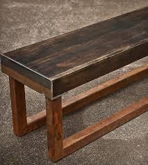 reclaimed wood u0026 metal bench home furniture a r busch