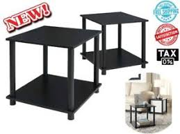 black side table with shelf black side end tables set of 2 night stand small cube bedroom