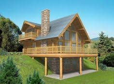 Log Cabin House Designs Like Having The Lower Level Under The Deck They Make Rain Snow