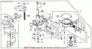 honda ct110 trail 1981 b usa carburetor schematic partsfiche