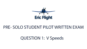 private pilot pre solo written exam question 1 v speeds youtube