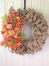 diy burlap fall wreath tutorial