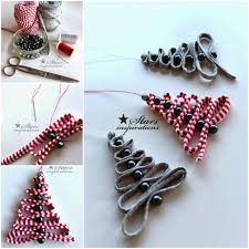 diy easy ribbon bead tree ornament diy crafts
