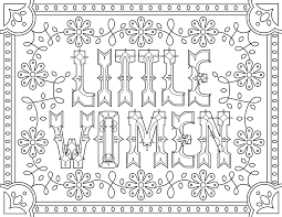 little women movies coloring pages for adults justcolor
