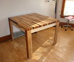 How To Build A Wood End Table by Butcher Block Hardwood Table 5 Steps With Pictures