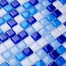 Blue Glass Tile Bathroom - cobalt blue backsplash tile crystal glass tile mosaic wall